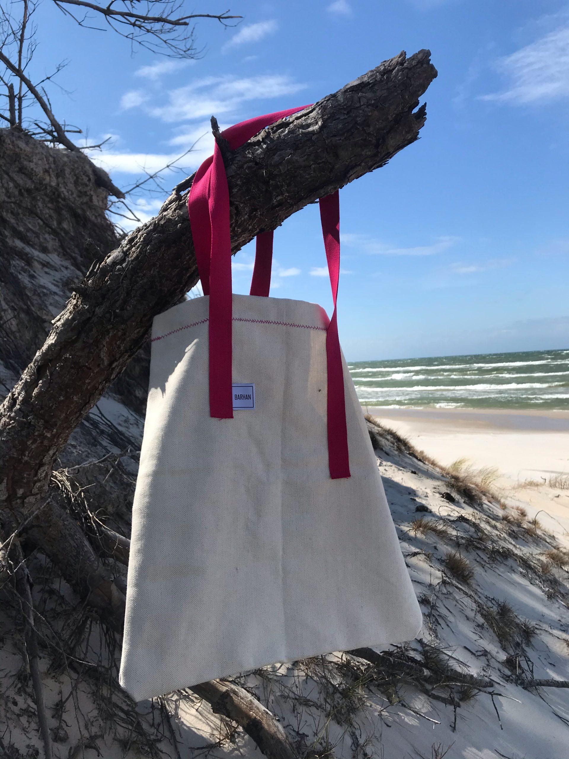 piaskowa torba różowe uszy